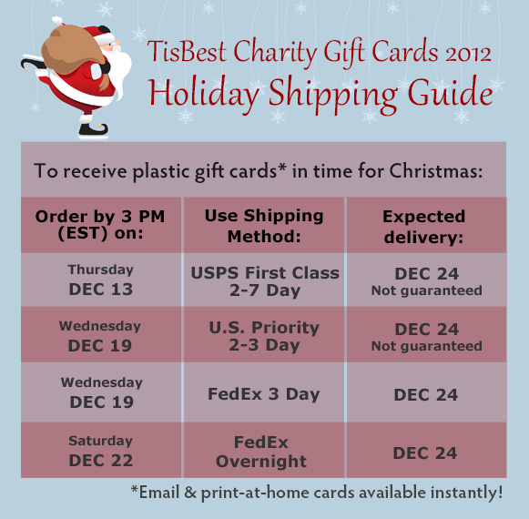 2012 Holiday Shipping Guide